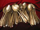 Silverplate Flatware Lot of 100 Vintage Craft Grade TABLE SERVING SPOONS 8.5