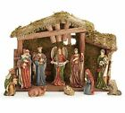 Burton And Burton 122420 Nativity Set with Woodland Moss Covered Creche
