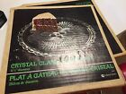 Vintage Indiana Glass American Crystal  Clear Footed Cake Plate  nib 3355