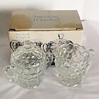 Sugar Set Indiana Crystal Glass Clear American Whitehall
