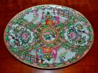 Small Antique Chinese Rose Medallion Oval Serving Platter