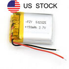 USA Stock 3.7 V 190mAh 502025 Battery Li-Polymer Rechargeable for GPS Reader MP3