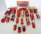 DIECAST COLLECTION 20 Vintage Fire Engines Rescue Vehicles Firetrucks Estate Lot