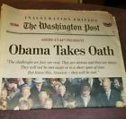Washington Post Obama Takes Oath Inauguration Edition Jan 20, 2009 - Good Cond