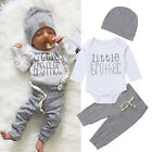 US Newborn Infant Baby Boy Little Brothers Romper Pants Trousers Outfit Clothes