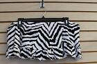CUTE NEW WOMENS PLUS SIZE 4X BLACK & WHITE ZEBRA RUFFLE SKIRTED SWIM SUIT BOTTOM