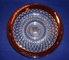 Vintage Diamond Point Ruby Red Flash Lg. Crystal  Center Piece / Console Bowl