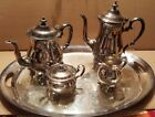 Pilgrim silverplate coffee/ tea set with tray