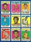 1971-72 Topps Basketball lot of 109 diff cards West Cowens Hayes Monroe