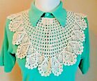 OLD VTG Original Collar hand crochet lace beautiful pineapple design oversized