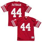 Tom Rathman 1990 San Francisco 49ers Mitchell  Ness Home Red Legacy Jersey Men