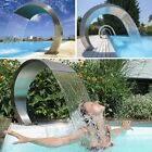 Waterfall Pool Fountain Stainless Steel Cascade Swimming Pool Decor Pond Garden