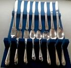 Son EXQUISITE 52 Pc Silver Plate Flatware Set w File Case - Estate