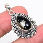 """Magnatite In Pyrite 925 Sterling Silver Vintaage Style Pendant 1.46""""(19)_IV"""