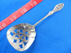 VINTAGE 1938 MANCHESTER VALENCIENNES FANCY BONBON CANDY SPOON STERLING SILVER