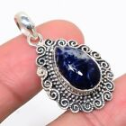 """African Sodalite 925 Sterling Silver Vintaage Style Pendant 1.46""""(33)_IV"""