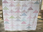 ANTIQUE QUILT Delectable Mountains, very old prints,
