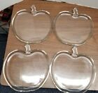 Hazel Atlas Orchard Clear Apple Shape, 4 Luncheon Snack Plates 8