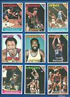 1975-76 Topps Basketball set lot of 296 diff cards McAdoo Hayes Barry Cowens