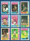 1974-75 Topps Basketball set lot of 245 diff cards Havlicek Frazier McAdoo Hayes
