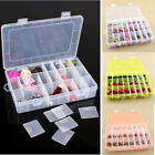 10 15 24 Slot Empty Plastic Adjustable Jewelry Storage Box Beads Craft Organizer