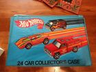1975 MATTEL HOT WHEELS Collectors Carrying Case including 24 cars HW