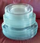 Huge Vintage Lot of 25 Clear Glass ARCOROC Large and Small Plates Salad Bowls