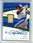 2018 Panini Immaculate Collection GARY SHEFFIELD #16 20 Bat Relic Autograph Auto