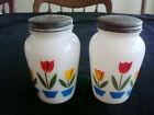 Pepper Shaker Set~w/Tops~Milk Glass