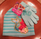 Girls-One-Size-Disney-Princess-Mermaid-Ariel-&-Flounder-Beanie-Hat-&-Glove-Set