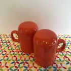Fiestaware Poppy Rangetop Salt and Pepper Shakers Fiesta Orange Range Top