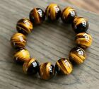NATURAL YELLOW TIGER EYE STONE BEADS  HAND KNIT LUCKY BRACELET