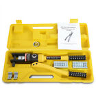16 Ton Hydraulic Crimper Terminal Tool Crimping 11 Dies Wire Battery Cable Lug