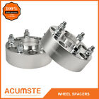 2PCS 2 Hubcentric Wheel Spacers For Jeep JK JKU Wrangler Grand Cherokee Silver
