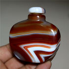 Exquisite Hand-carved Natural Banded Agate Snuff Bottle - Madagascar