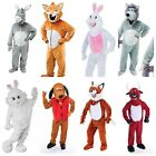 ADULT BIG HEAD MASCOT UNISEX ANIMAL FUNNY FANCY DRESS COSTUMES PANTO NATIVITY