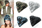 CAMO BEANIE HAT, COOL CASUAL CUFFED BEANIE. URBAN STYLING FOR WARMTH AND COMFORT