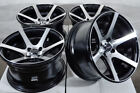 15 Wheels Honda Civic Accord Miata Fit Sephia Spectra Corolla Black Rims 4x100