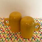 Fiestaware Daffodil Rangetop Salt and Pepper Shakers Fiesta Yellow Range Top