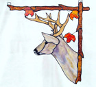 Stained Glass Deer Big Game Wildlife Corner Window Hanging Right