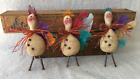 Primitive Ornies Fall Whimsical TURKEY Bowl Fillers Make Do's Prim Ornies Tucks