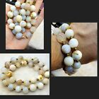 Very Rare Color Of Yamani White Agate Lovely Old Beads Necklace # YABL66