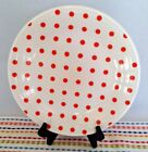 Fiestaware Poppy Dot Dinner Plate Fiesta White Outlet Exclusive Polka Dots NEW