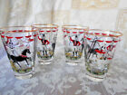 EARLY LIBBEY GREATEST SHOW ON EARTH RINGMASTER CIRCUS HORSE RIDING GIRL GLASSES