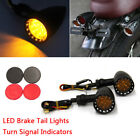 Bobber Cafe Racer Motorcycle Amber LED Turn Signal Indicator Brake Tail Lights A
