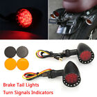 Cafe Racer Bobber Chopper Motorcycle LED Turn Signal Indicator Brake Tail Lights