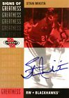 00-01 ud heroes signs greatness stan mikita chicago blackhawks autograph auto