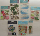 Scrapbooking Stickers Jolees Boutique Lot HAWAII Hula Aloha Hibiscus Palm Tree