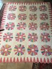 antique quilt, dresden pattern,  nice! hand sewn, a skilled quilter