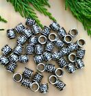 Circle pattern Style Silver Tone Beads European Large hole Spacers 8X8m25 beads